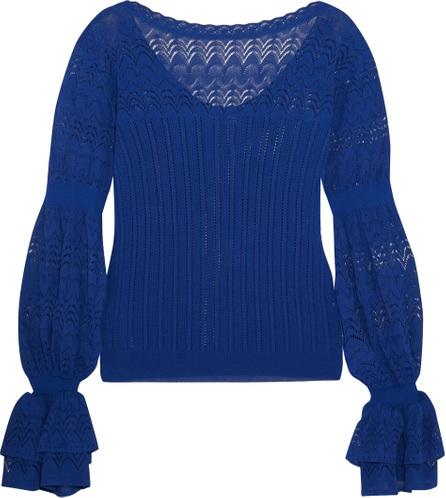 Oscar De La Renta Pointelle-knit top