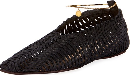 Stella McCartney Crochet Ankle-Chain Flats