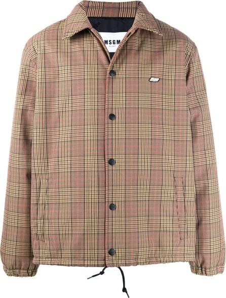 MSGM Check print shirt jacket