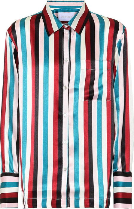 Asceno Striped silk pajama shirt