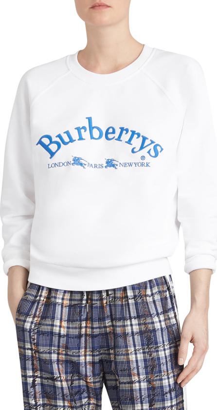 Burberry London England Battarni Embroidered Logo Sweatshirt