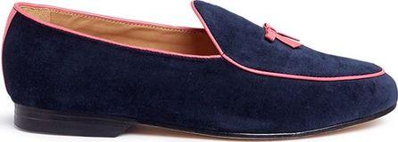 Bing Xu 'Belgian' bow suede loafers