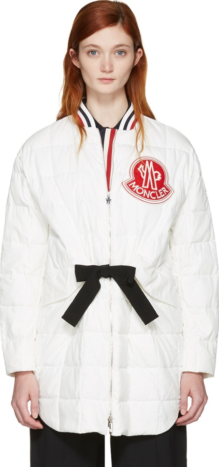 Moncler Gamme Rouge White Down Logo Coat