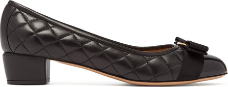Vara quilted-leather pumps