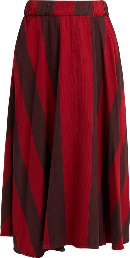 ace&jig Eileen striped cotton midi skirt