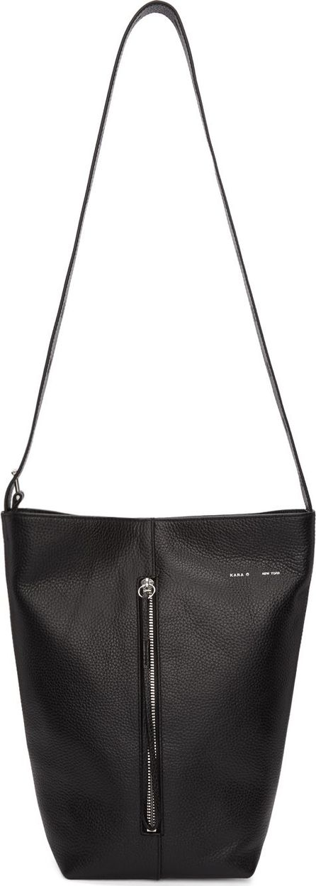KARA Black Panel Bucket Bag