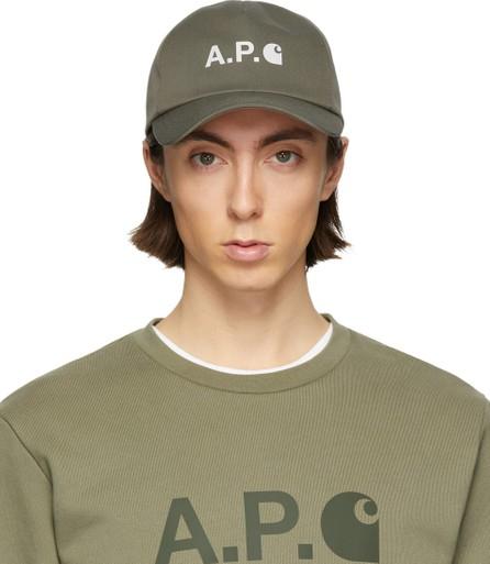 A.P.C. Khaki Carhartt WIP Edition Cap