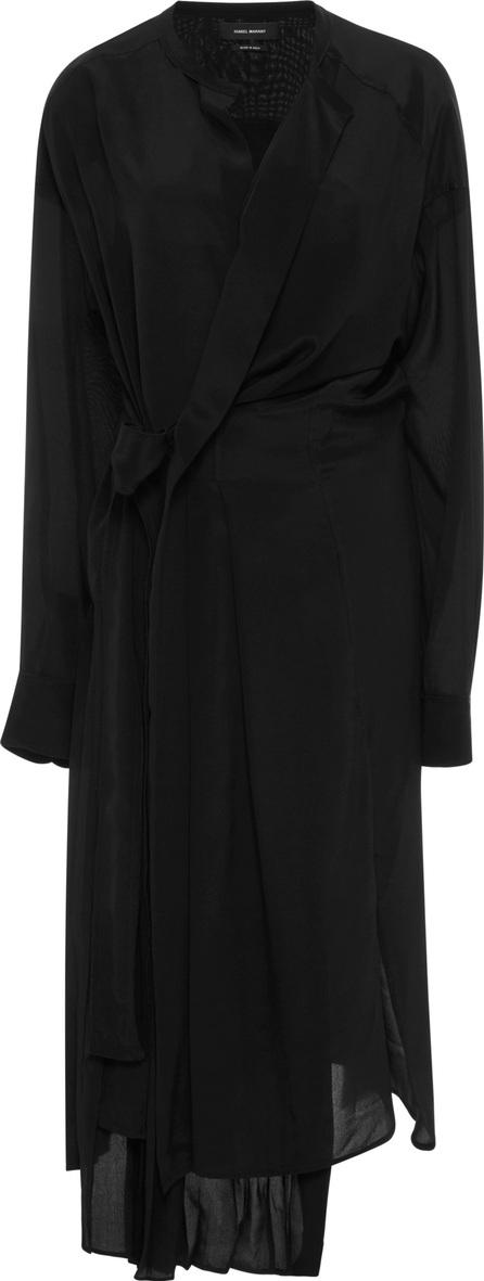 Isabel Marant Iam Wrap-Effect Asymmetric Silk Dress