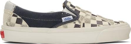 Vans Off-White & Black Bricolage Classic Slip-On Sneakers