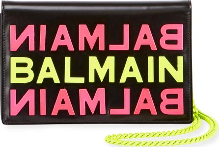 Balmain Logo Calf Pouch Bag
