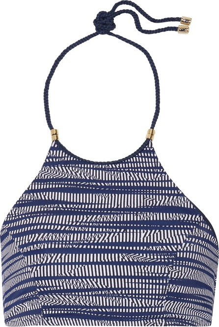 Heidi Klum Intimates Braided printed halterneck bikini top