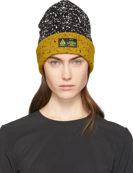 NikeLab Black & Yellow Errolson Hugh Edition ACG Beanie