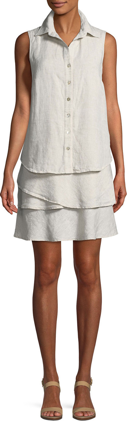 Finley Jasmine Sleeveless Linen Dress