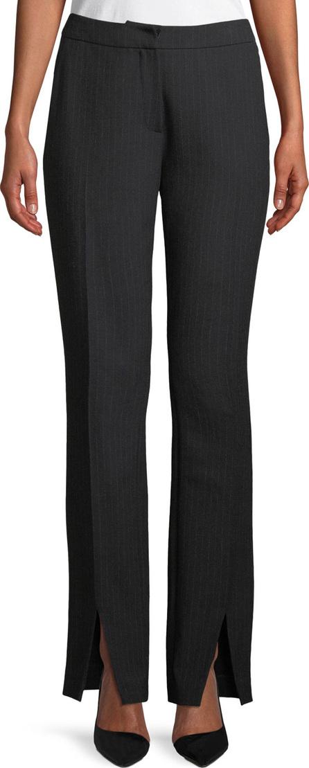 Elie Tahari Leena Pinstripe Straight-Leg Pants w/ Slit