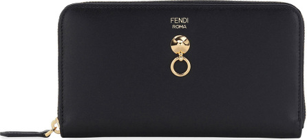 Fendi By The Way Zip-Around Napa Leather Wallet