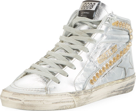 Golden Goose Deluxe Brand Slide Metallic High-Top Sneakers