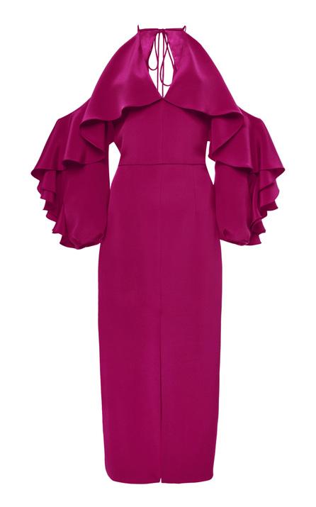 Cushnie Et Ochs Aura Cold Shoulder Dress