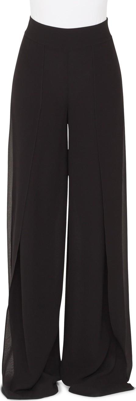 Akris Split Front Silk Palazzo Pants