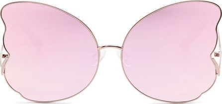 Matthew Williamson Butterfly frame metal mirror sunglasses