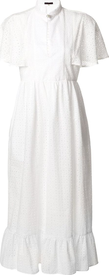 Alexa Chung broderie anglaise cape dress
