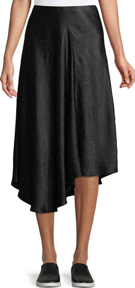 Vince Bias-Cut Asymmetric Midi Skirt