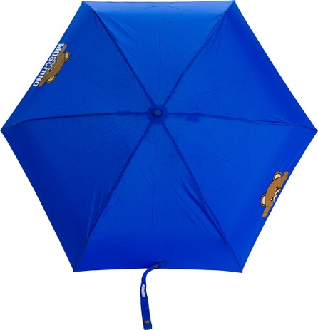 Moschino bear and logo printed umbrella