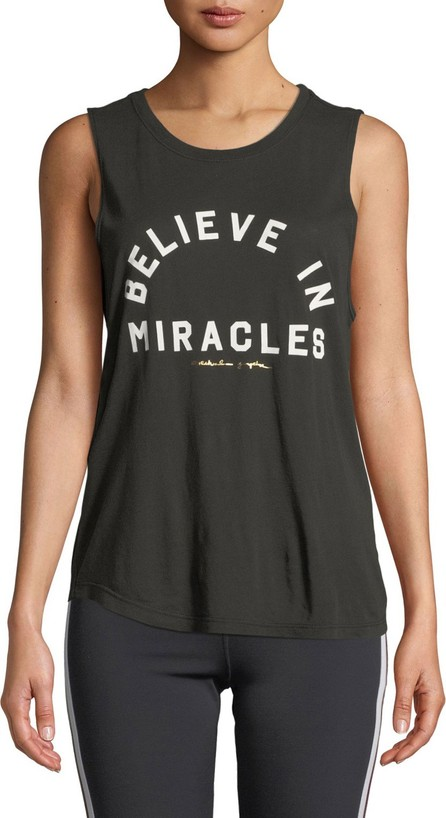 Spiritual Gangster Believe Scoop-Neck Slogan Muscle Tank