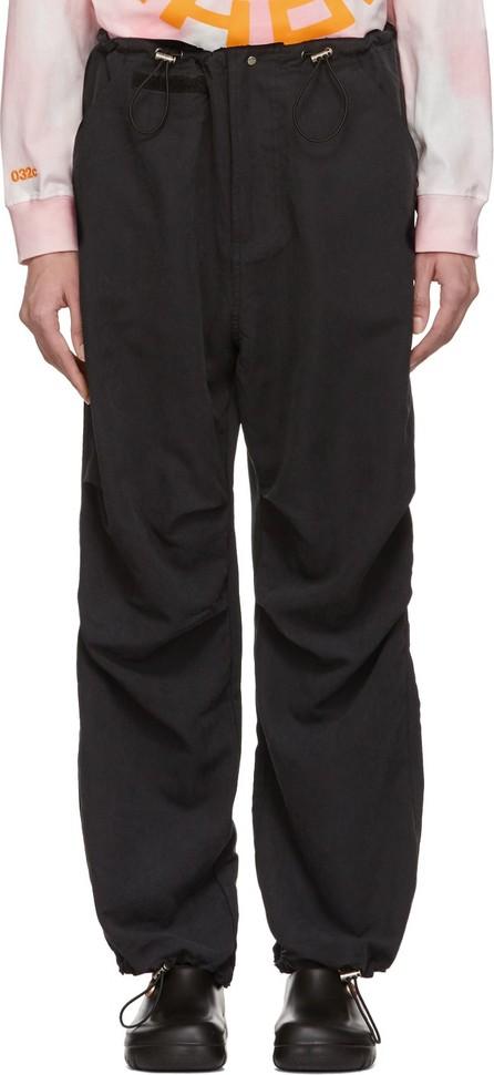 032c Black Flap Pocket Trousers