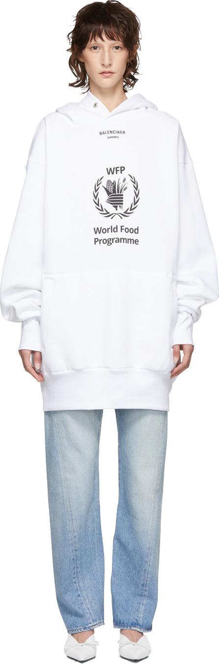 Balenciaga White World Food Programme Hoodie