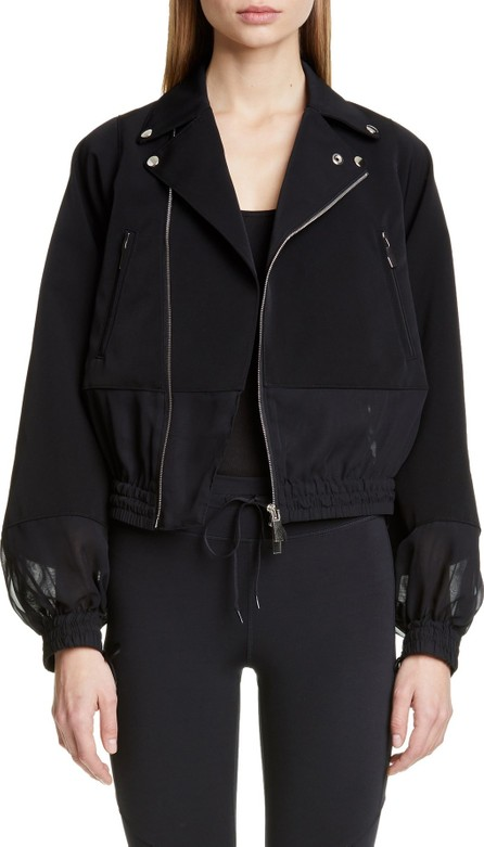 Noir Kei Ninomiya Sheer Panel Moto Jacket