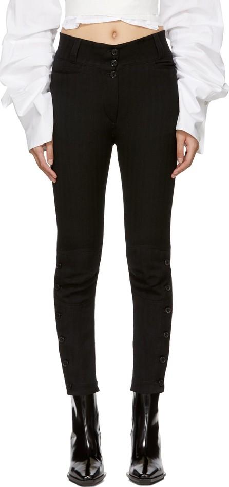 Ann Demeulemeester Black Button Detail Trousers