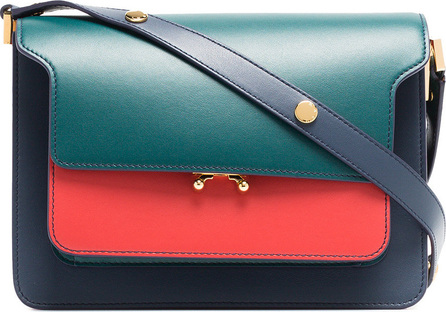 Marni Green, red and blue Trunk Small leather handbag