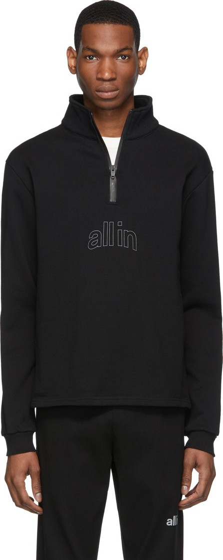all in Black Half-Zip Pullover