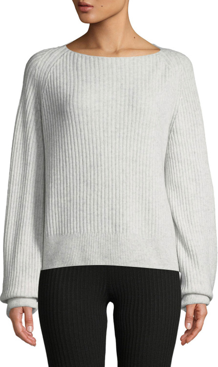 Vince Ribbed Boat-Neck Wool-Cashmere Sweater