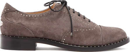 Jimmy Choo Reeve studded suede brogues