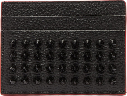 Christian Louboutin Kios spiked leather cardholder