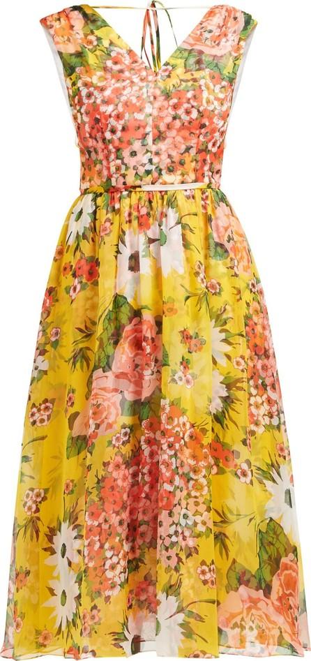 Carolina Herrera Floral-print silk-chiffon dress