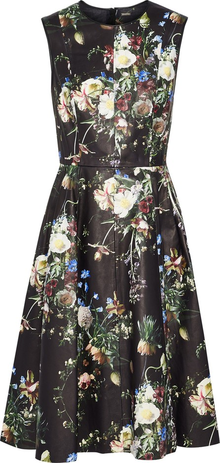 Adam Lippes Floral-print leather dress