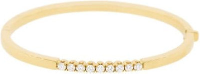 Sorellina 18kt yellow gold diamond Nove bangle