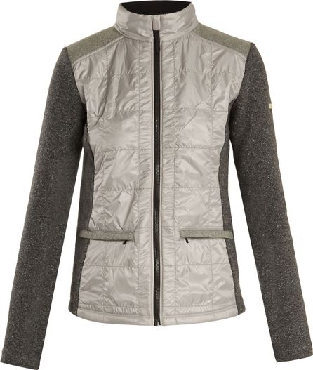 Capranea Alma contrast-panel quilted performance jacket