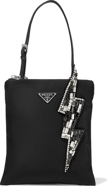 Prada Crystal-embellished nylon tote