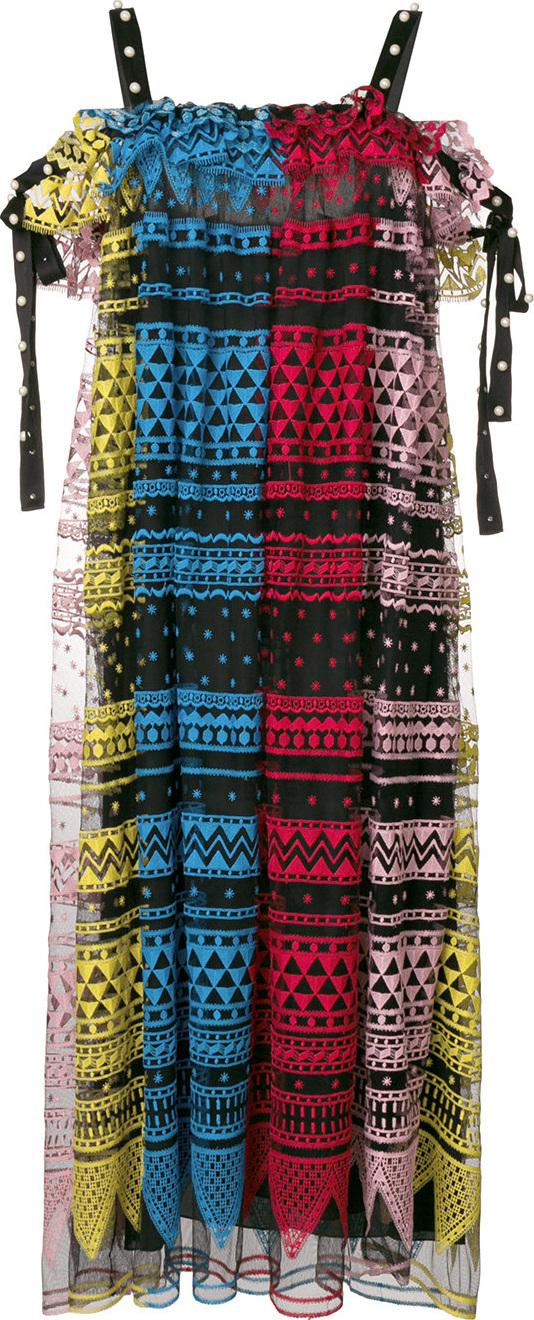 Philosophy Di Lorenzo Serafini - Geometric embroidered dress
