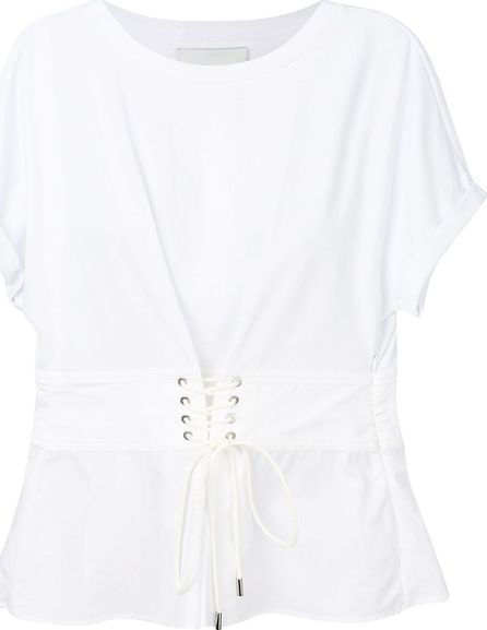 3.1 Phillip Lim Corseted-waist T-shirt