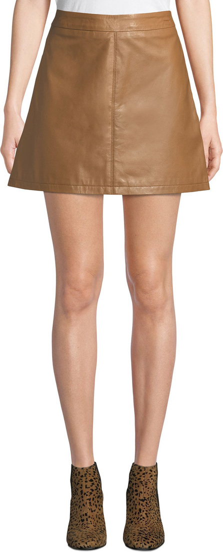 cupcakes and cashmere Marrie Leather Mini Skirt