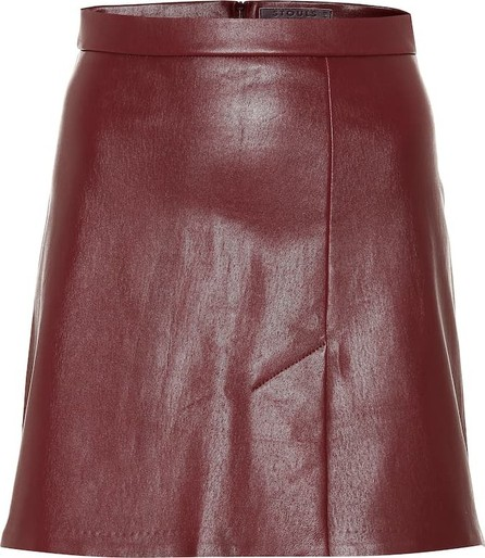 Stouls Santa leather miniskirt