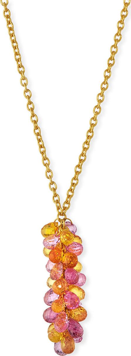 GURHAN Delicate Dew Cluster Fancy Sapphire Pendant Necklace
