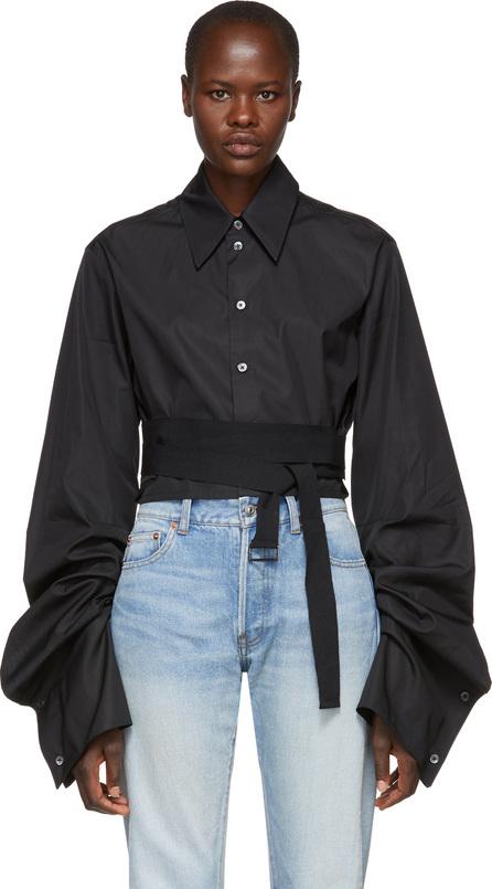 Ann Demeulemeester Black Cropped Byron Shirt