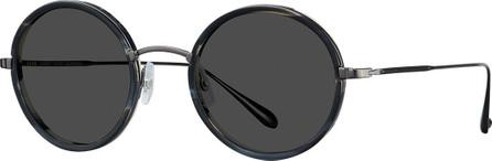 GARRETT LEIGHT Playa Round Mirrored Sunglasses