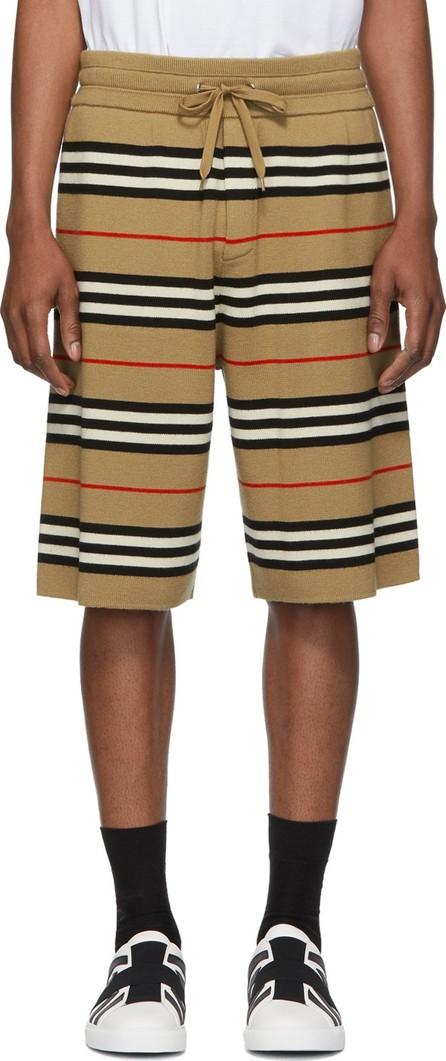 Burberry London England Beige Striped Merino Kenton Shorts