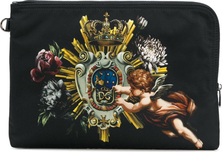 Dolce & Gabbana Cherub print pouch
